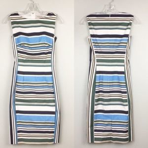 Canvas by Lands End Dress Size 2 Stripes Lined